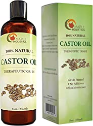 Castor Oil for Hair Growth - Cold Pressed Castor Oil Dry Scalp Treatment for Natural Hair Regrowth Dry Hair and Dandruff Hai