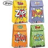 confezione da 20 scatole da party per supereroi per regali di caramelle