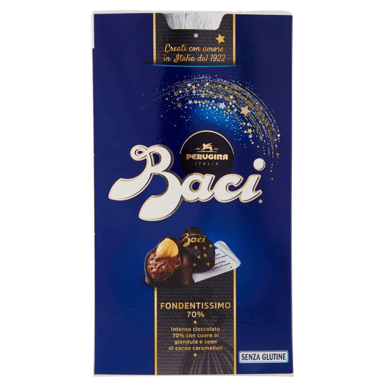 4% BACI PERUGINA FONDENTISSIMO 70% cioccolatini al cioccolato fondente  extra ripieno con nocciola 200g c52ca14670f