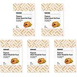 Amazon Brand -Solimo Face Sheet Mask, Papaya, Pack of 5