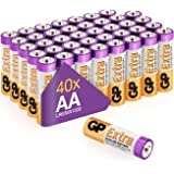 AA Batteries Pack of 40-1.5V / Mignon / LR06 / MN1500/ AM3 by GP Batteries AA Extra Alkaline Batteries ideal for: Toys/Contro