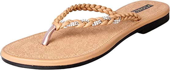 Azores Women's Brown Stylish Flats