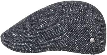 Lierys Coppola Raul Melange Herringbone Uomo - Made in Italy Cappello Piatto Cappellino Lana Invernale con Visiera, Fodera, Fodera Autunno/Inverno