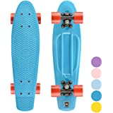 Roues PU Support en Alliage daluminium TureFans Skateboard Enfant 57 * 15cm Skateboard Retro Panneau PP Skateboard Plastique