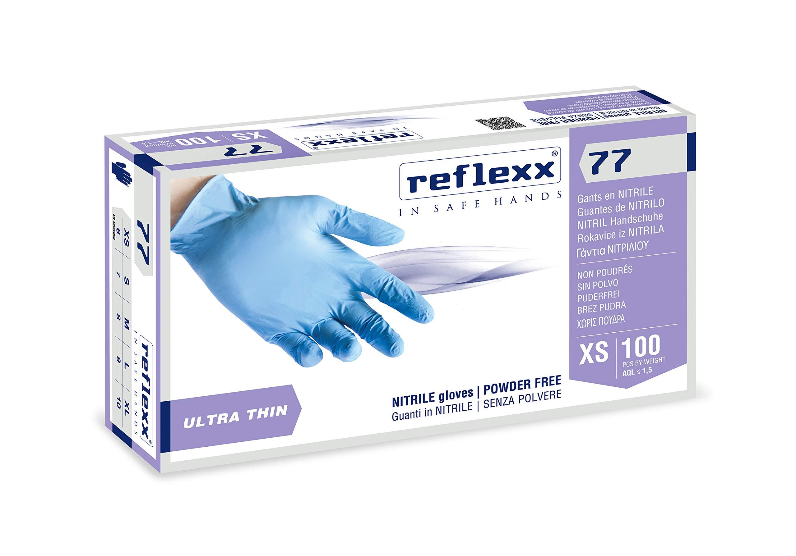 Reflexx-R77100-Guanti-in-Nitrile-senza-Polvere