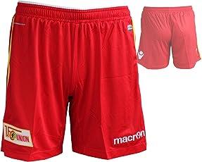 Macron 1.FC Union Authentic Home Short / Spielerhose 1.FCU Heim Fußball-Hose rot