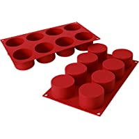 Silikomart 26.119.00.0060 SF119 Moule Forme Cylindre 8 Cavités Silicone Terre Cuite
