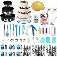 Uarter 290pcs Équipement de décoration de gâteau, Fournitures de décoration de gâteaux, Kit de décoration de Cupcakes…