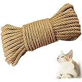 Gxhong Sisaltouw voor krabpaal, sisaltouw, multifunctioneel sisal, natuurlijk sisal touw, voor krabpaal, kattenboom, hennepto