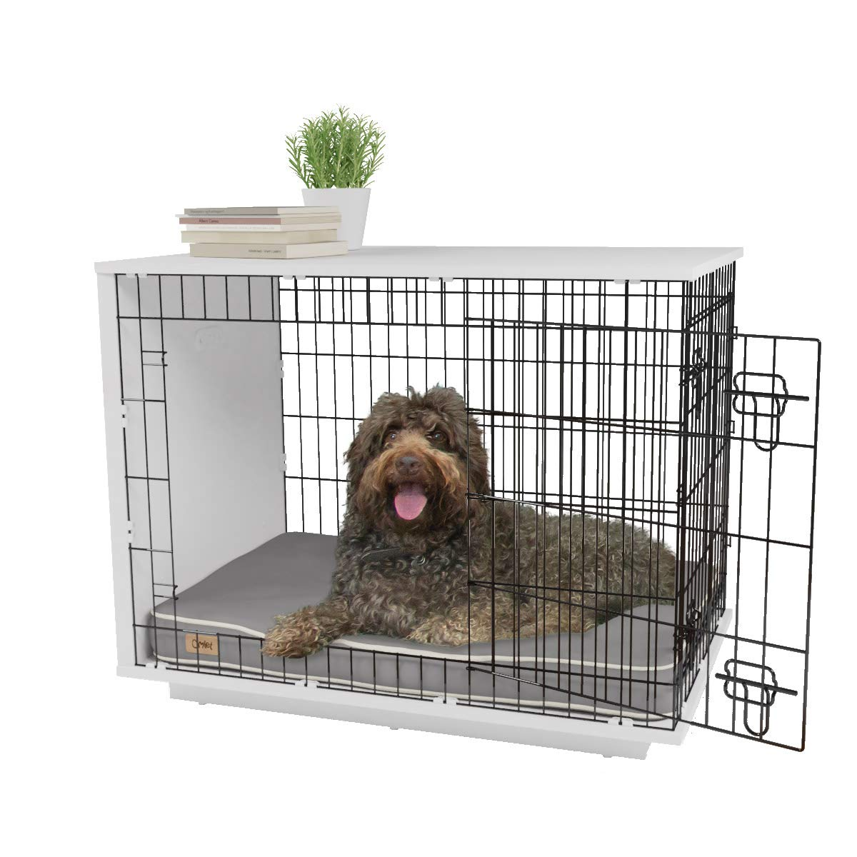 Omlet Fido Studio 36″ Dog Crate/Dog Bed – White
