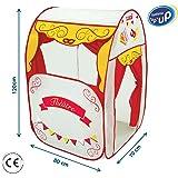 LUDI - Théâtre de marionnettes en tissu et structure pop-up 120 x 80 x 70 cm. Dès 3 ans. Décor pour réaliser les plus…
