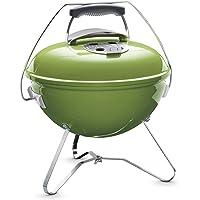 Weber 1127704 Smokey Joe Premium, Holzkohlegrill, 37 cm, grün, für unterwegs, tragbar