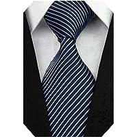 Wehug Men's Classic Solid Tie Woven Necktie Jacquard Neck Red Ties For Men