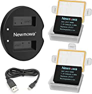 LP-E17 Newmowa Replacement Battery (2 Pack) and Dual USB Charger Kit for Canon EOS M3 M5 M6 200D 750D 760D 800D Rebel T6i T6