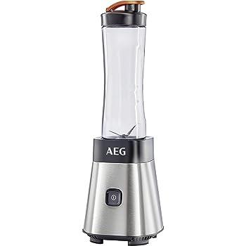 AEG SB2500 Batidora de Vaso Good To Go, Apta para Lavavajilla, 300 W, Acero Inoxidable, Gris