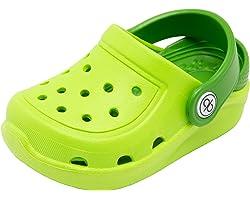 dripdrop Clogs Kids Garden Shoes Boys Girls Comfort Indoor Outdoor Slippers Soft Walking Beach Sandals Toddler/Little Kid