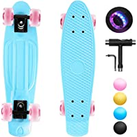 shownicer Skateboard Completo Mini Cruiser Skateboard Penny Board per Bambino Adulto Ragazza Ragazzo Principianti, 22…