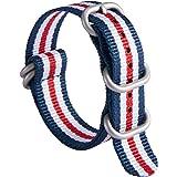 Bracelet de Montre épais G10 Premium en Nylon Balistique Bandes Multicolores pour Hommes Femmes 18 mm 19mm 20 mm 21mm 22 mm 2
