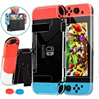 HEYSTOP Nintendo Switch Case Dockable, Clear Protective Case Cover Compatible with Nintendo Switch and Joy-Con…