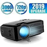 Beamer,3000 Lumen ABOX 2018 Aktualisierte Mini LED Projektor,+60% Helligkeit Full HD 1080P,unterstützt HDMI USB SD VGA AV für Laptop,Smartphone perfekt für Fußballspiele,Filme