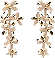 Tiaraz Fashion Jewellery Designer Hanging Leaves Fancy Party Wear Earrings for Girls and Women