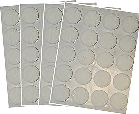 SECOTEC Filzgleiter selbstklebend rund weiß 22 mm Profi-Pack 80 Stück