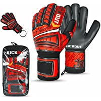 Kickout Limited Edition Football Goalkeeper Gloves | Best Football Gift For Kids , Boys , Children , Youth And Adults…