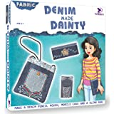 Toykraft: Denim Made Dainty - Bag/ Purse Making art and craft set for Girls / Gift item for girls 8 years & older