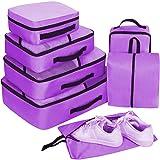 Set di 7 Packing Cubes,Organizer Valigie, Cubi per Valigia, Faxsthy Viaggio Dei Bagagli Organizzatore per i Vestiti Scarpa Co