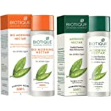 Biotique Bio Morning Nectar Sunscreen Ultra Soothing Face Lotion, SPF 30+, 120ml & Biotique Bio Morning Nectar Visibly Flawle