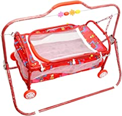 baba ji enterprises Cute Baby Bassinet in cots Cradle Stroller Cribs (Multicolour)