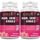 MuscleXP Multivitamin Hair, Skin and Nails with Biotin   Amino Acids   60 Tablets   Pack Of 2