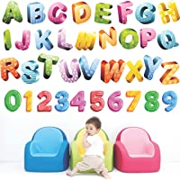 StickMe 'Colourful Glittering Alphabets Kids Learning Education Nursery Pre School Kinder Garden Wall Sticker' -SM472 (PVC Vinyl - 150cm X 150 cm)
