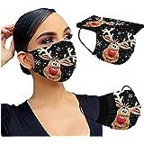 MEIYOUMK 10 Stück Weihnachtsmaske Mundschutz Erwachsene Einweg 3-lagig mit Weihnachtsmotiv Bunt Mund und Nasenschutz…