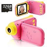 Fotocamera per Bambini Giocattolo Videocamera Digitale per Bambini Giocattolo per Bambini Schermo HD da 2.4 pollici 1080P con