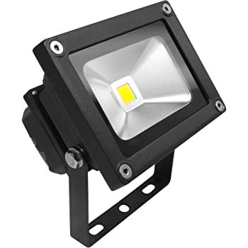 Long Life Lamp Company SMD 10 Watt Outdoor LED Flood Light LED Ideal Replacement Halogen R7S Floodlight Security Lights Garden Floodlight, Warm White Black Body [Energy Class A]