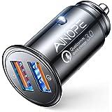 AINOPE Cargador Coche Usb, [Puerto Dual QC3.0] 36W / 6A [Todo Metal] Cargador Movil Coche Mini Cargador Coche Rapido Compatib