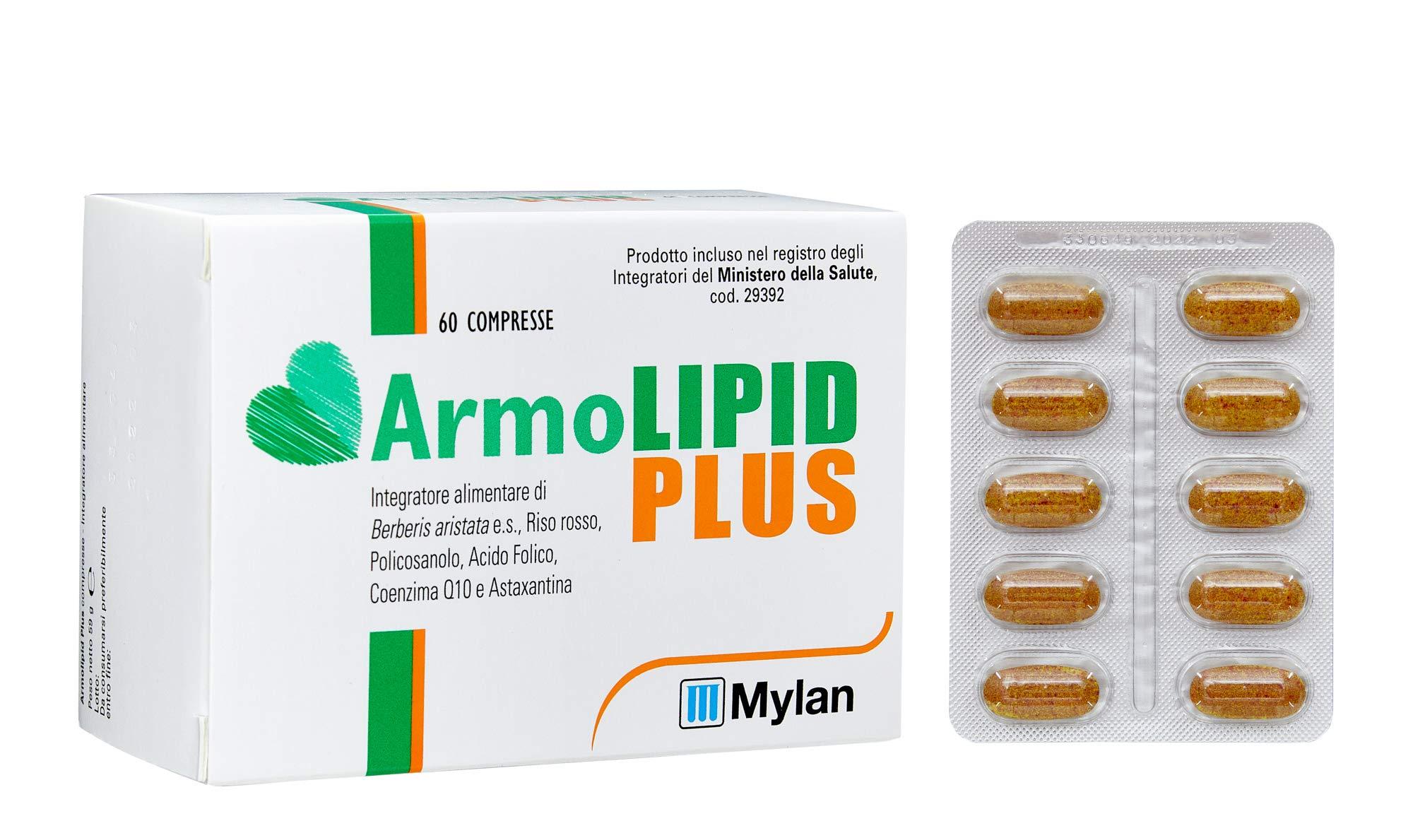 Armolipid Plus integratore alimentare con riso rosso, 30 compresse 5 spesavip