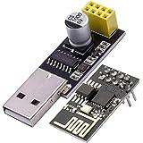 AZDelivery ESP8266 ESP-01S Modulo Wifi con USB Adaptador compatible con Arduino con E-Book incluido!