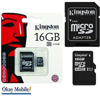Tarjeta de memoria Micro SD Kingston Original 16 GB tarjeta ...