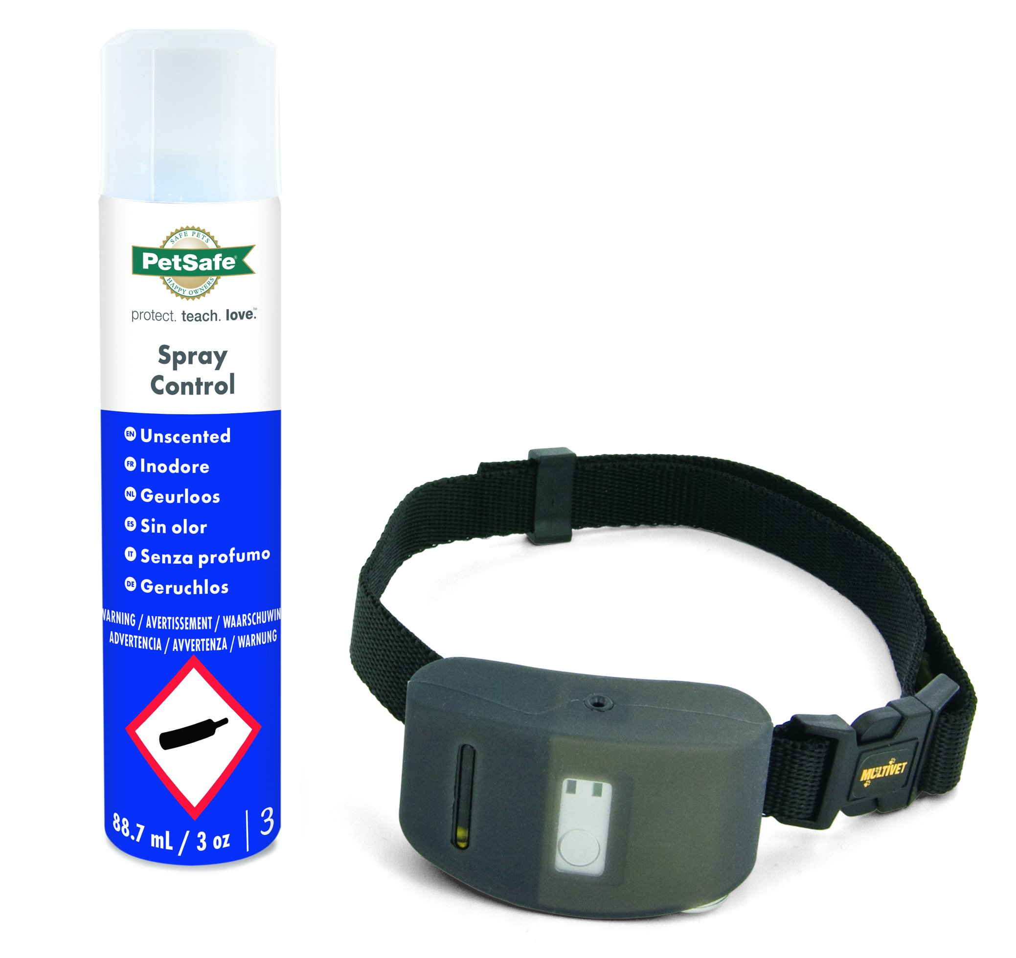 PetSafe, SBC-10 Spray Bark control, Necksize up to 71 cm, Anti Bark, Automatic, Safe, Spray Stimulation, Dog Collar