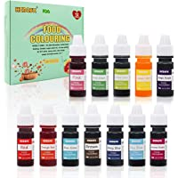 Coloranti Alimentari a 12 colori - Colorante Alimentare Liquido Concentrati per Cuocere, Decorare, Glassare e Cucinare…