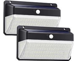 Ekrist Lampe Solaire Extérieur 328 LED【3000LM-2500mAh Panneaux Solaires】Détecteur de Mouvement éclairage Solaire Spot sans Fi