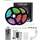 Galapara Ledstrip, 2 x 5 m, RGB, 300 leds, SMD5050, 20 kleuren met 44 toetsen, IR-afstandsbediening, 12 V, 5 A voeding, IP65