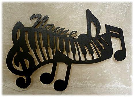Klavier Wohnzimmer Schlafzimmer Deko Lampe Piano Tasten Mit Name Geschenk E Fr Musiker Zimmer Musik Schule Lehrer In Mann Frau Schwarz Amazonde