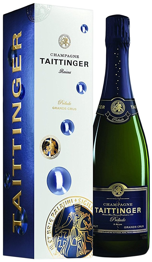 Taittinger Prelude Grands Crus Non Vintage Champagne with Gift Box, 75 cl