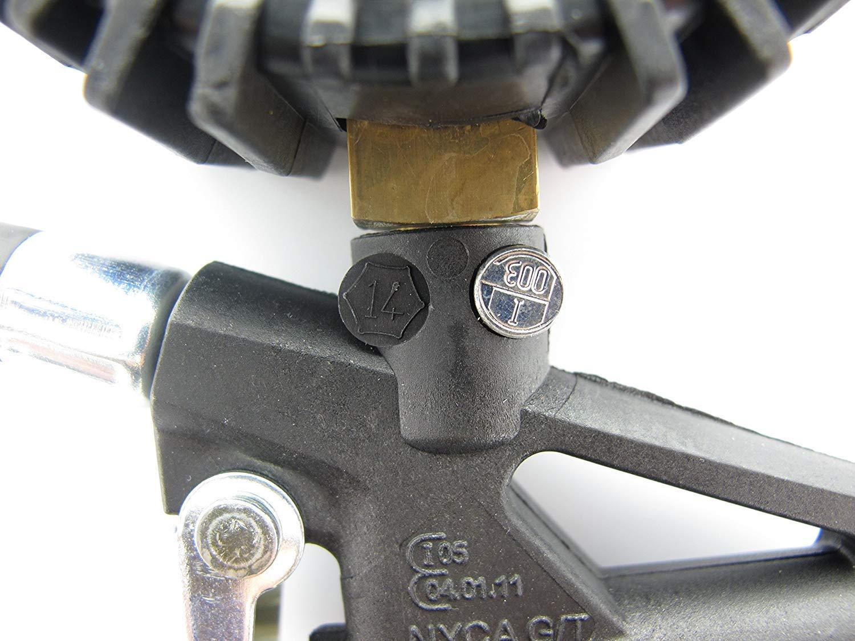 3 en 1 Medidor de presión de los neumáticos Manómetro de neumáticos con Manguera Rango de medición 0-220psi; 0-16bar Conversión de Unidades PSI/Bar Adecuado para minivans/Coches/Motos.