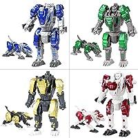 Sanggi 4 en 1 Robot Transformable, [ Lot de 4 ] Robot en Alliage Transformers Jouet, Enfants Puzzle Robot Jouets pour 3…