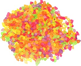 Florescent Shades Multi Color Gravels for Home and Garden, vase Fillers, Table Decor, Aquarium Substrate (2 kg)