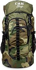 Chris & Kate Large Army Green Camouflage Bag    Travel Backpack    Outdoor Sport Camp Hiking Trekking Bag    Camping Rucksack Daypack Bag (45 litres)(CKB_186LL)